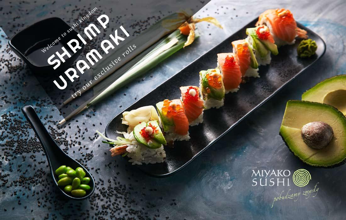 Shrimp Uramaki Sushi