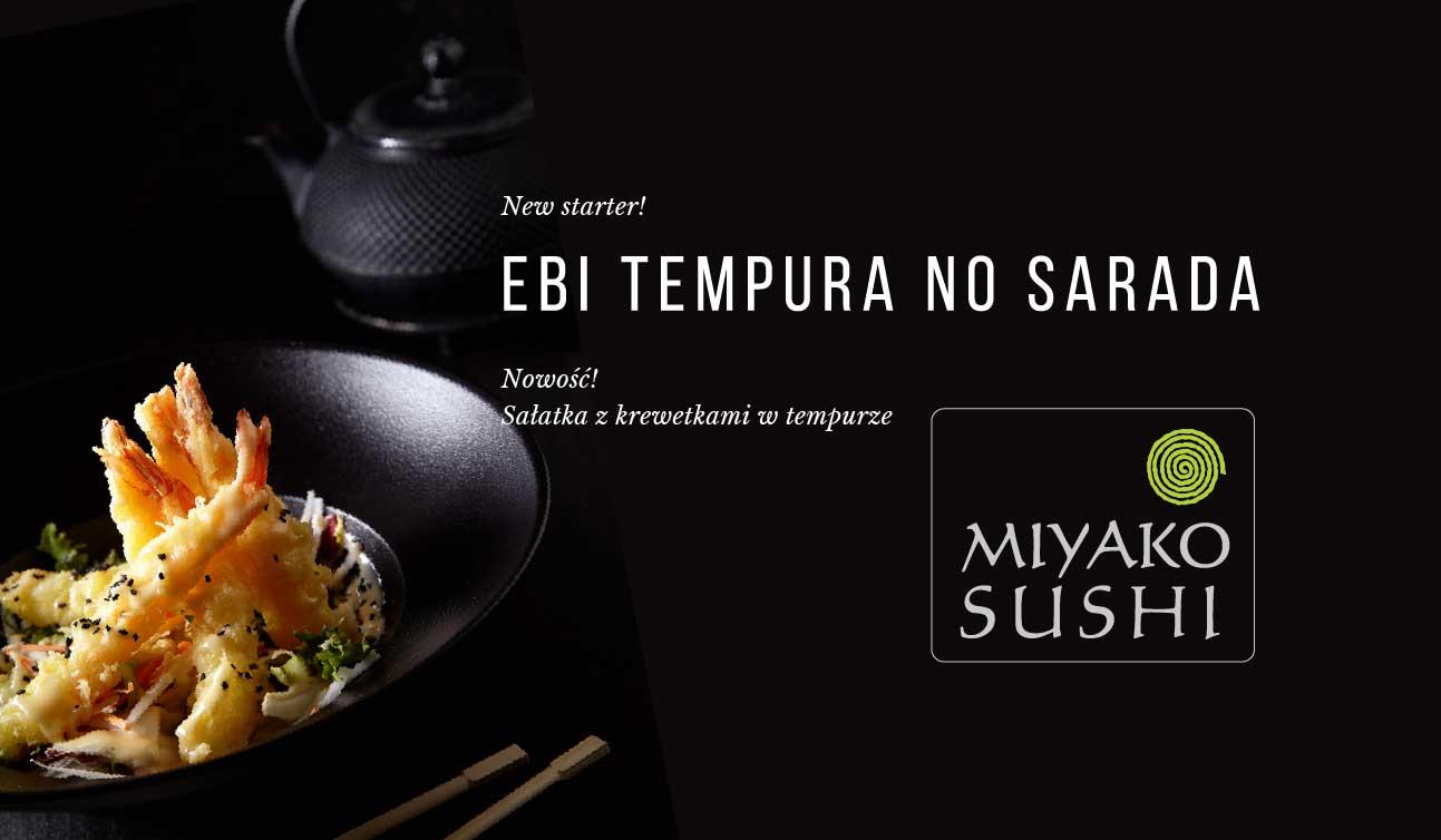 New starter Ebi Tempura – Miyako Sushi Kraków zaprasza!