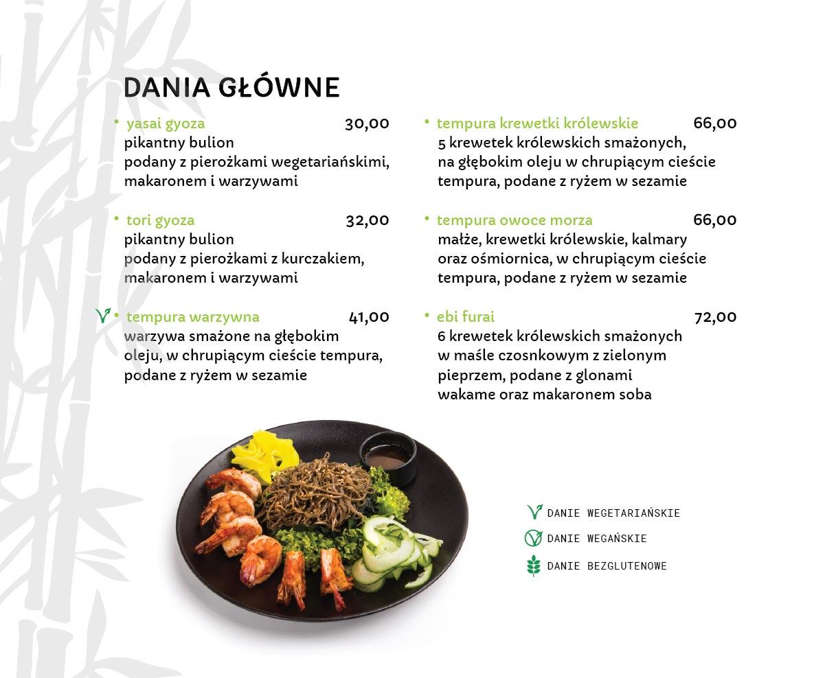 Dania Główne Japońskie Restauracja japońska Miyako Sushi Kraków