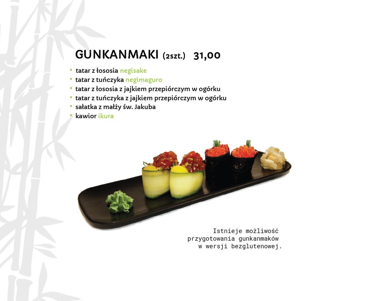 Gunkanmaki Sushi Restauracja japońska Miyako Sushi Kraków