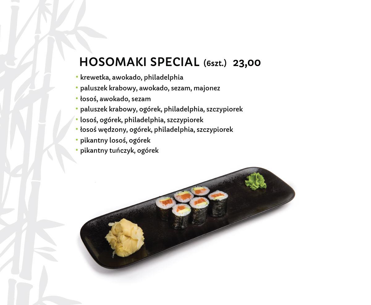 Hosomaki Special Sushi Restauracja japońska Miyako Sushi Kraków