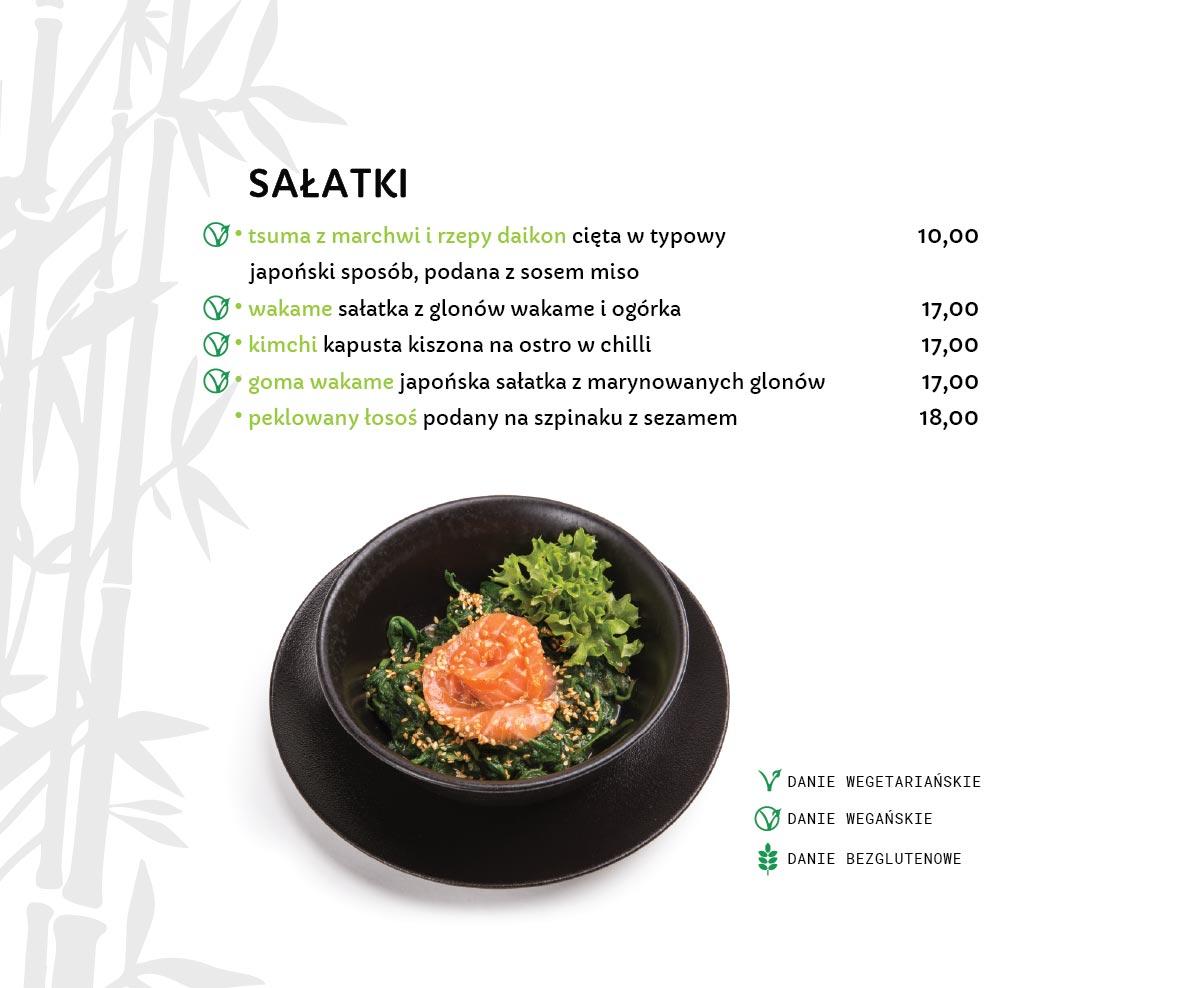 Sałatki Japońskie Restauracja japońska Miyako Sushi Kraków