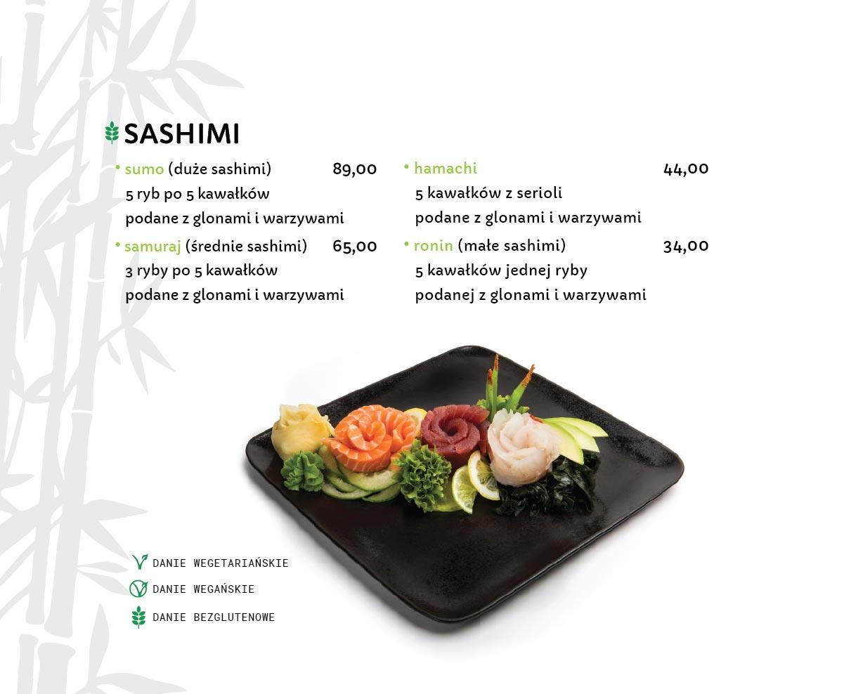 Sashimi Sushi Restauracja japońska Miyako Sushi Kraków