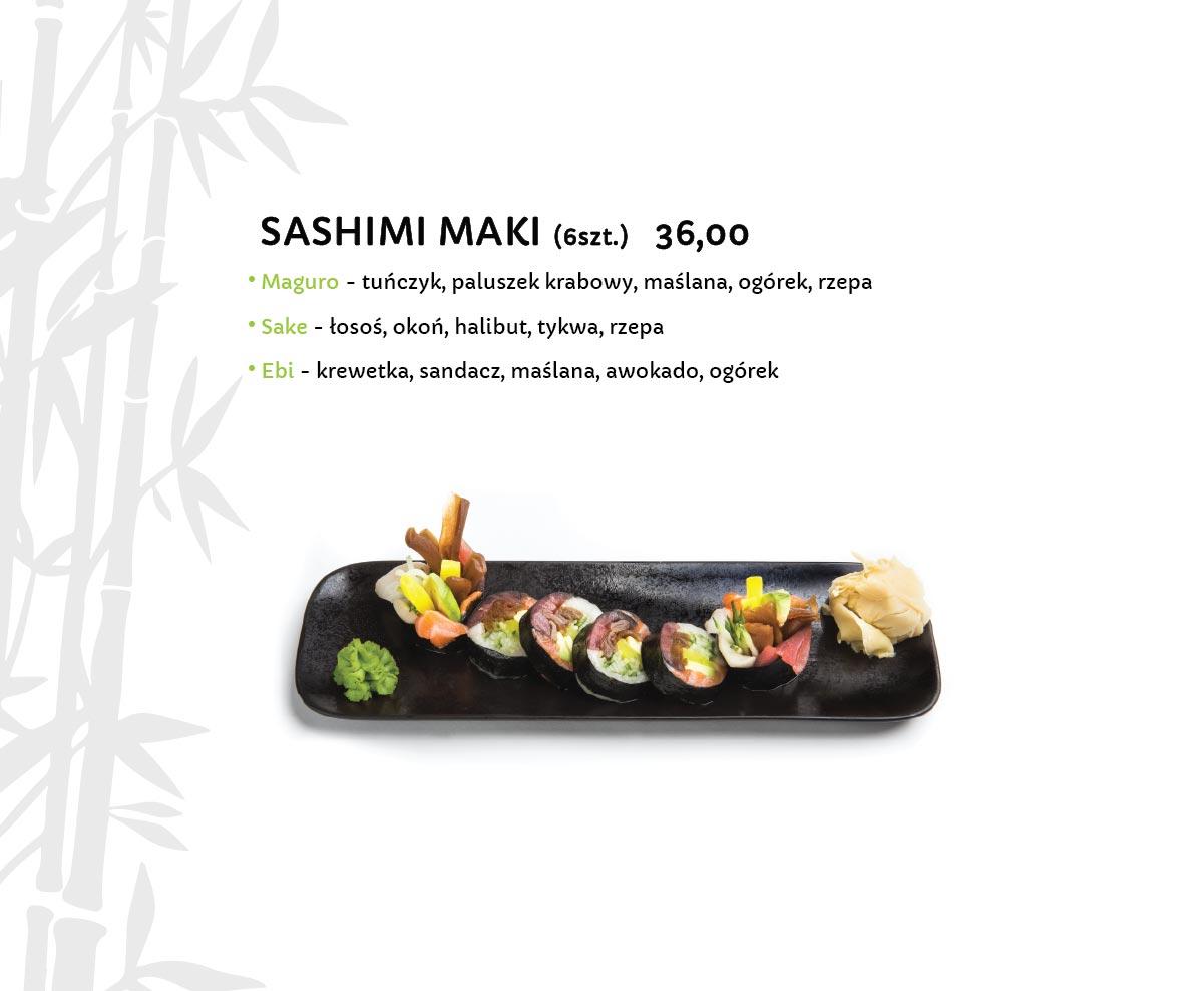 Sashimi Maki Sushi Restauracja japońska Miyako Sushi Kraków