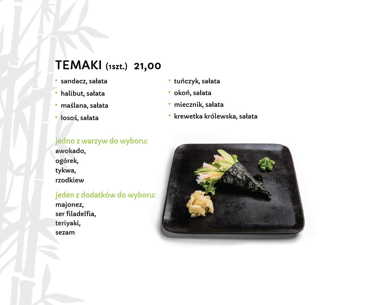 Temaki Sushi Restauracja japońska Miyako Sushi Kraków