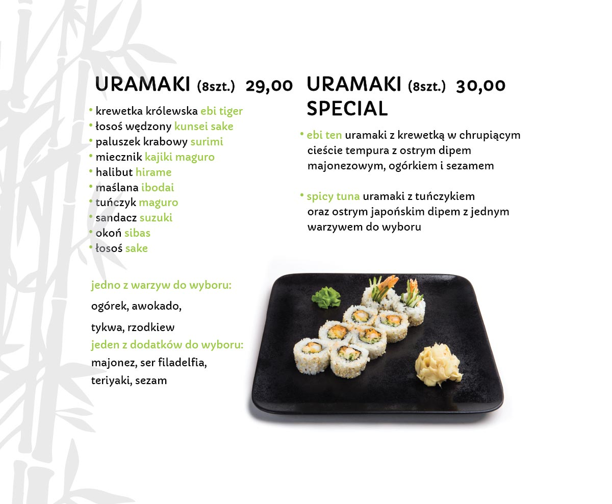 Uramaki Sushi Restauracja japońska Miyako Sushi Kraków