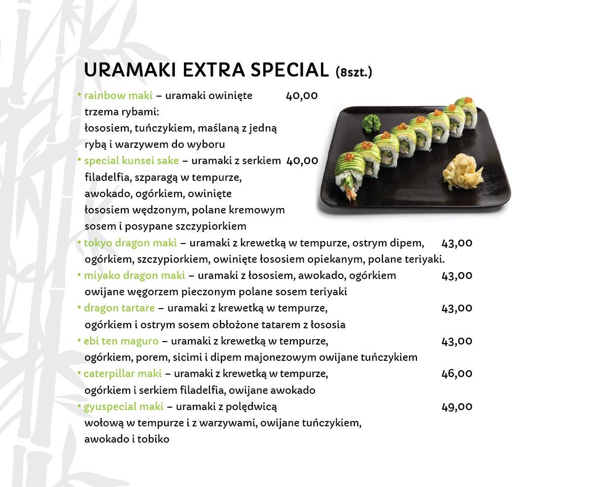 Uramaki Extra Special Sushi Restauracja japońska Miyako Sushi Kraków