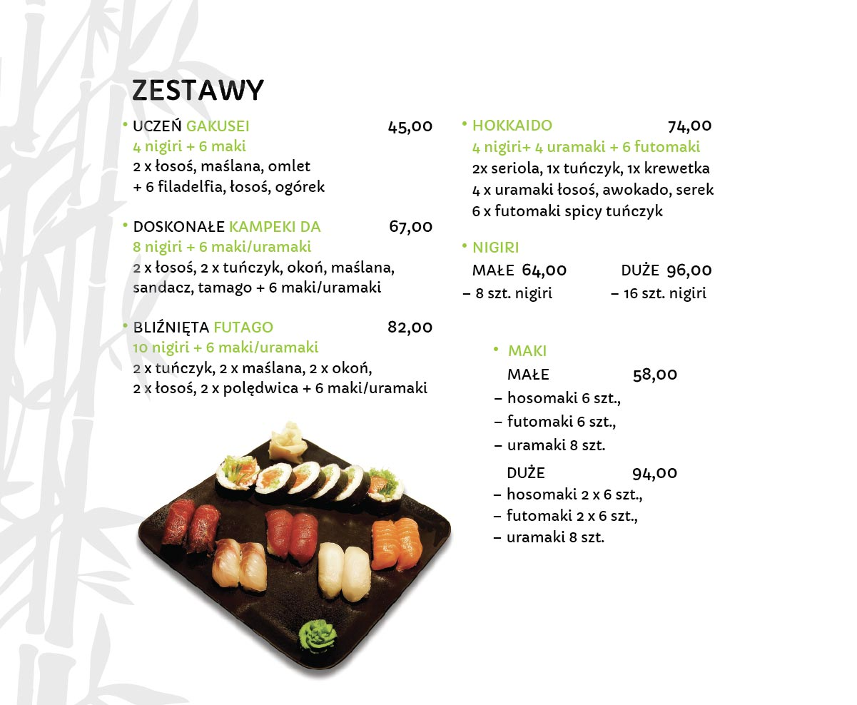 Zestawy Sushi Restauracja japońska Miyako Sushi Kraków