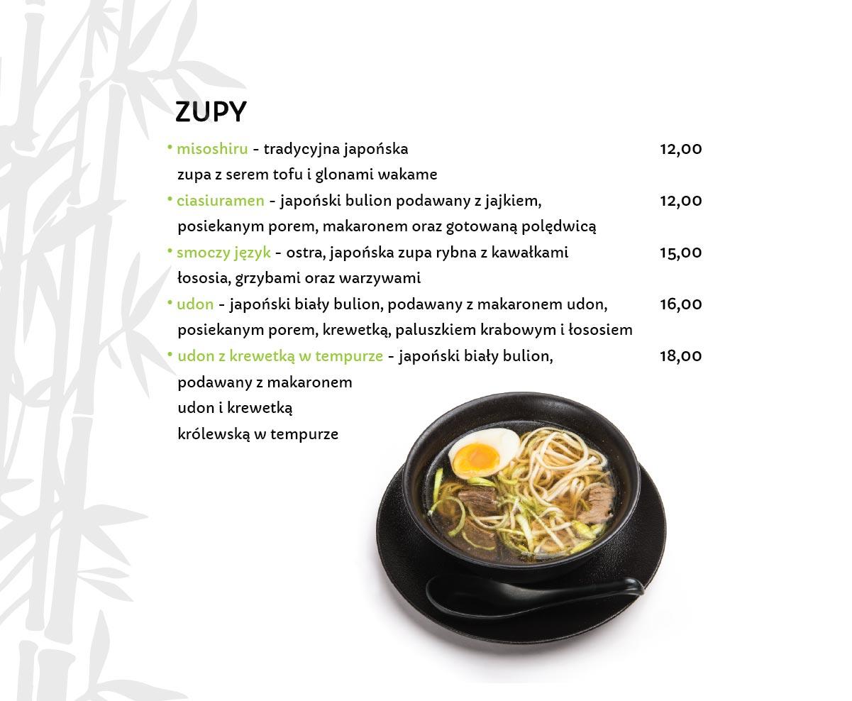 Zupy Japońskie Restauracja japońska Miyako Sushi Kraków
