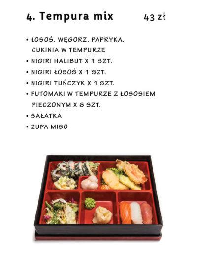 Restauracja Japońska Miyako Sushi Kraków Lunch menu